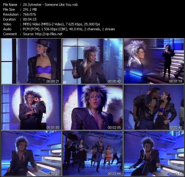 Screenshot of Music Video Sylvester - Someone Like You