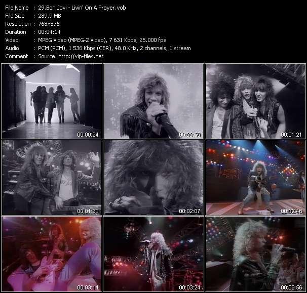 Screenshot of Music Video Bon Jovi - Livin' On A Prayer