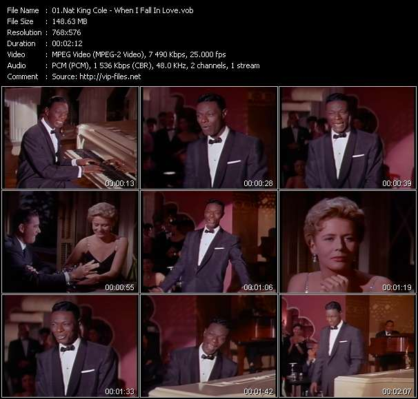 Screenshot of Music Video Nat King Cole - When I Fall In Love