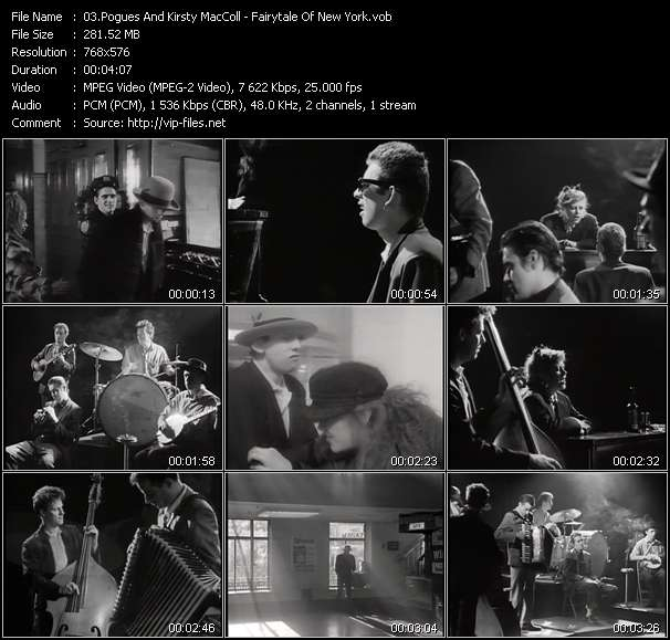 Screenshot of Music Video Pogues And Kirsty MacColl - Fairytale Of New York