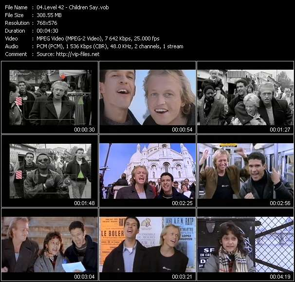 Screenshot of Music Video Level 42 - Children Say