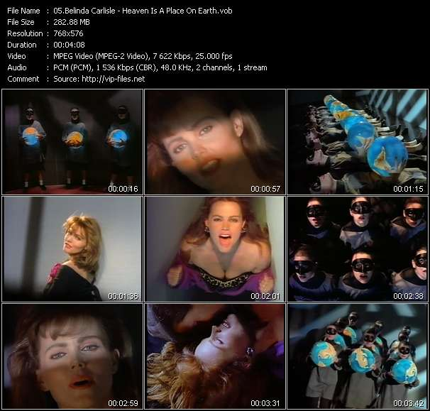 Screenshot of Music Video Belinda Carlisle - Heaven Is A Place On Earth
