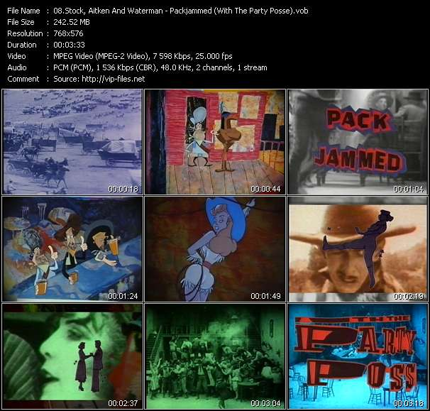 Screenshot of Music Video Stock, Aitken And Waterman - Packjammed (With The Party Posse)