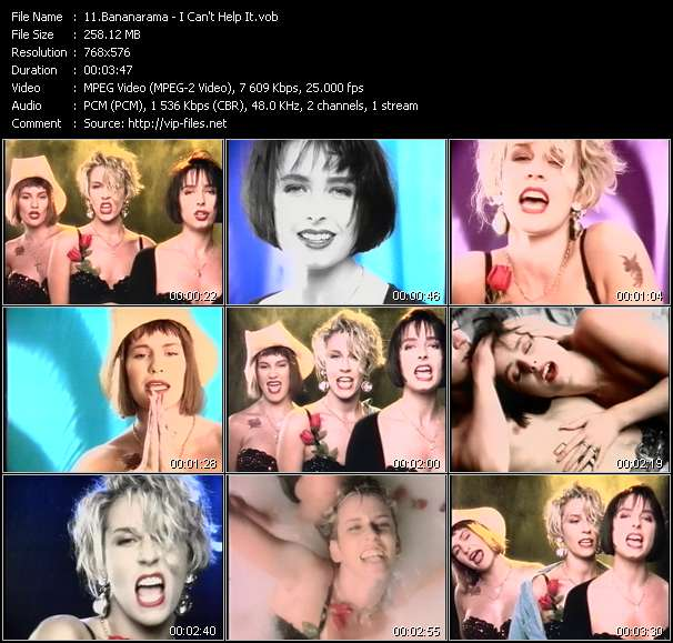 Screenshot of Music Video Bananarama - I Can't Help It