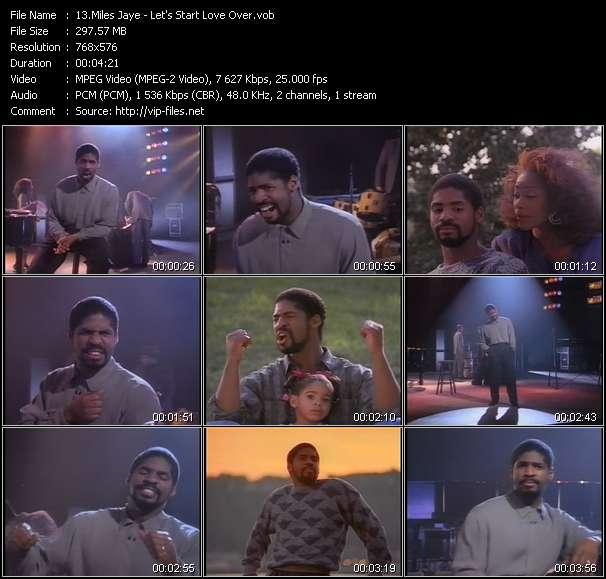 Screenshot of Music Video Miles Jaye - Let's Start Love Over