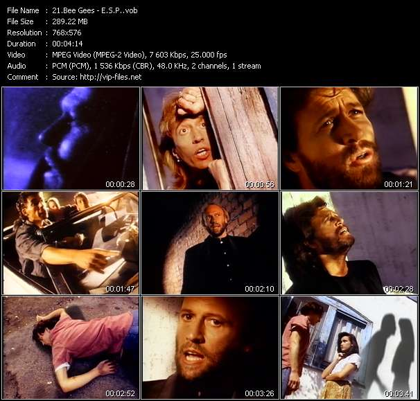Screenshot of Music Video Bee Gees - E.S.P.