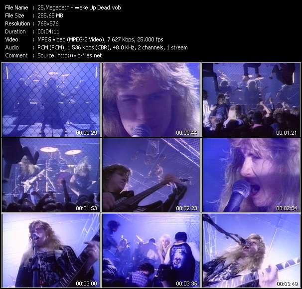 Screenshot of Music Video Megadeth - Wake Up Dead