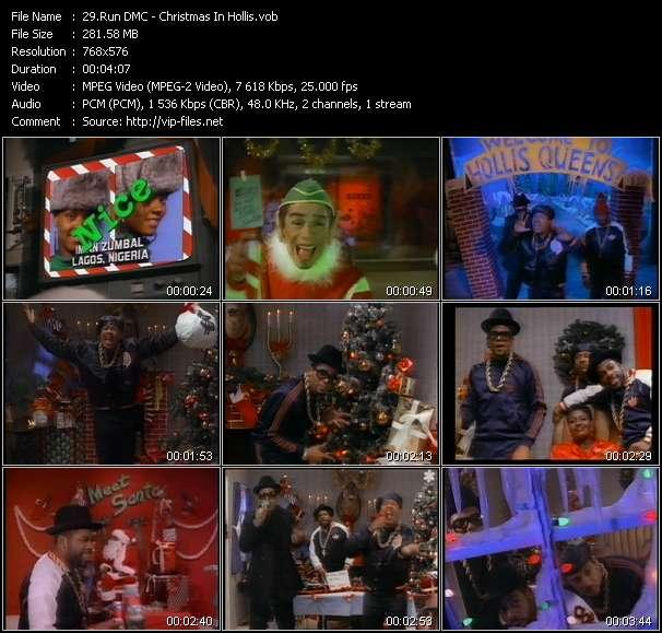 Screenshot of Music Video Run DMC - Christmas In Hollis