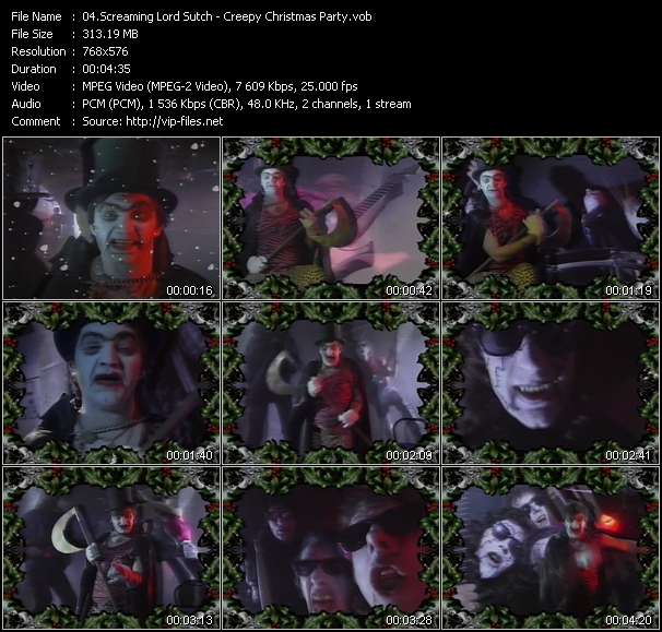 Screenshot of Music Video Screaming Lord Sutch - Creepy Christmas Party