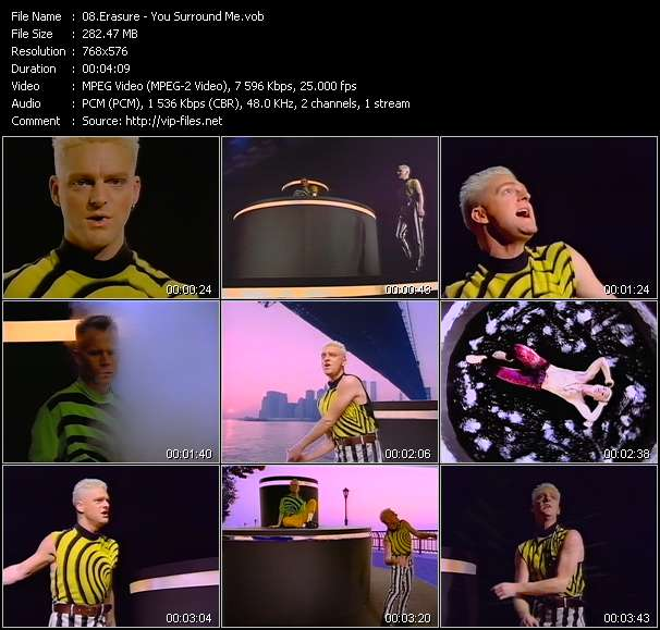 Screenshot of Music Video Erasure - You Surround Me