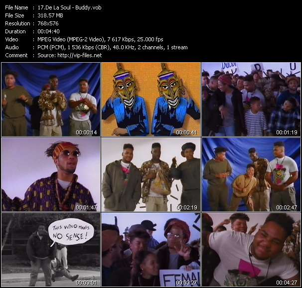 Screenshot of Music Video De La Soul - Buddy