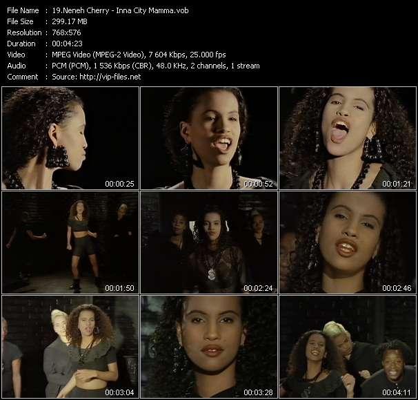 Screenshot of Music Video Neneh Cherry - Inna City Mamma