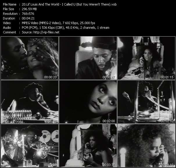 Screenshot of Music Video Lil' Louis And The World - I Called U (But You Weren't There)