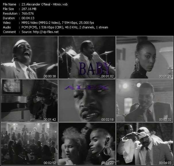Screenshot of Music Video Alexander O'Neal - Hitmix
