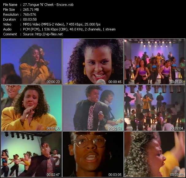 Screenshot of Music Video Tongue 'N' Cheek - Encore