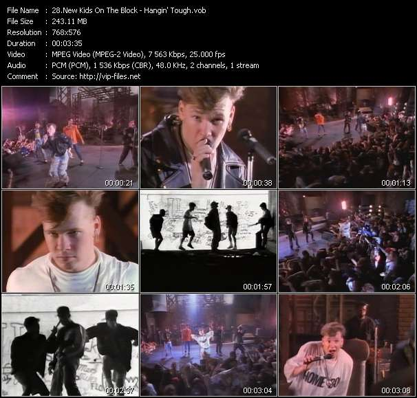 Screenshot of Music Video New Kids On The Block - Hangin' Tough