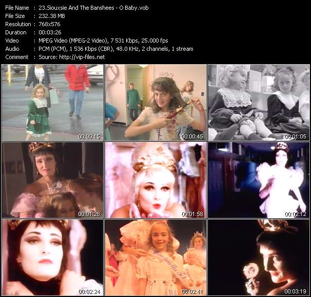 Siouxsie And The Banshees video vob