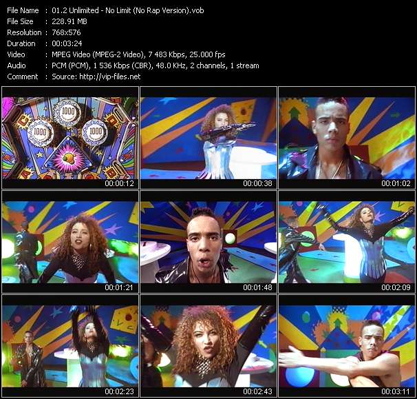 Screenshot of Music Video 2 Unlimited - No Limit (No Rap Version)