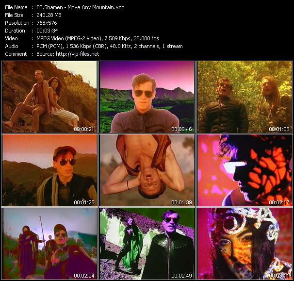 Screenshot of Music Video Shamen - Move Any Mountain