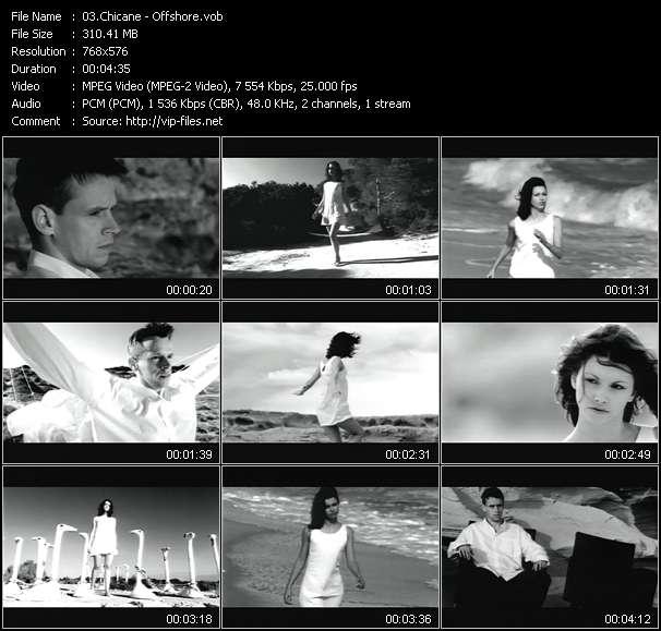 Screenshot of Music Video Chicane - Offshore