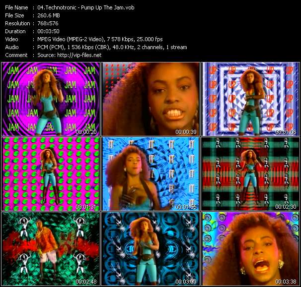 Screenshot of Music Video Technotronic - Pump Up The Jam