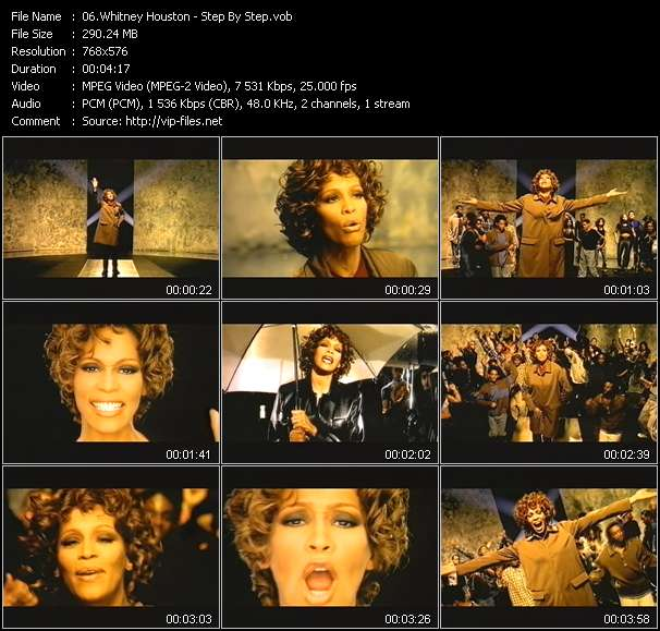 Screenshot of Music Video Whitney Houston - Step By Step