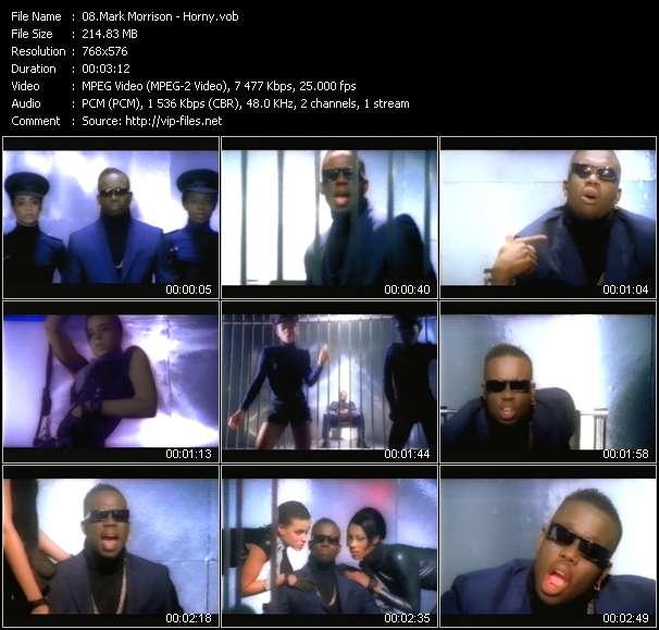 Screenshot of Music Video Mark Morrison - Horny