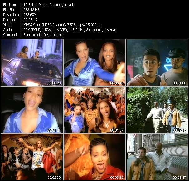 Screenshot of Music Video Salt-N-Pepa - Champagne