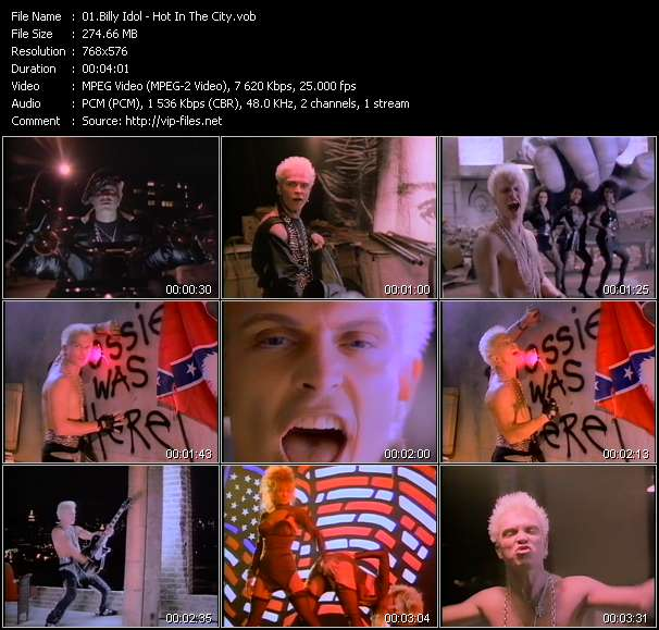 Screenshot of Music Video Billy Idol - Hot In The City