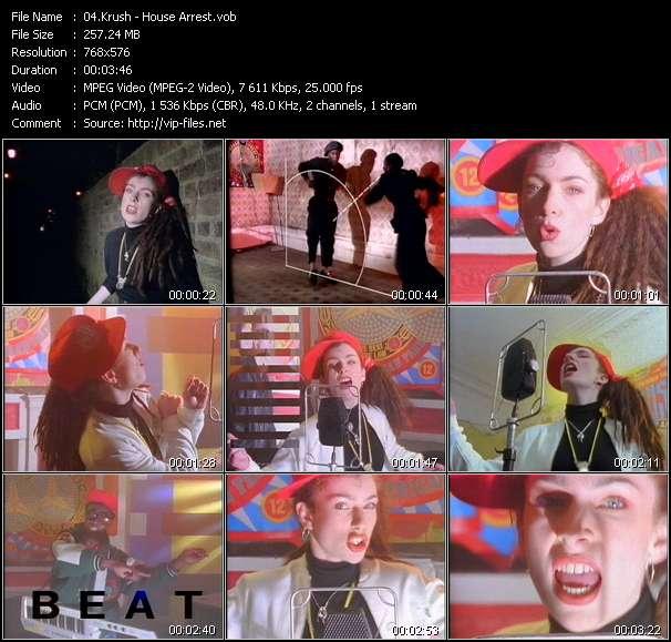 Screenshot of Music Video Krush - House Arrest