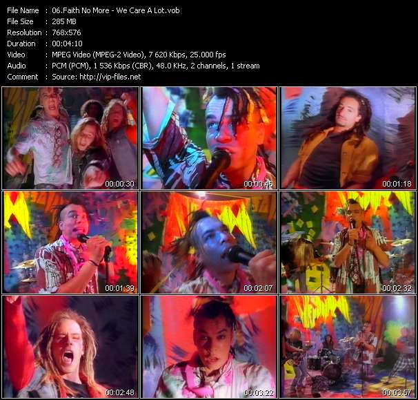 Screenshot of Music Video Faith No More - We Care A Lot