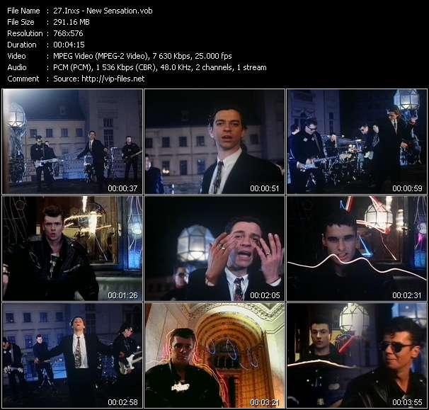 Screenshot of Music Video Inxs - New Sensation