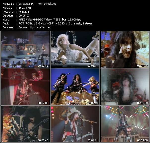 Screenshot of Music Video W.A.S.P. - The Manimal