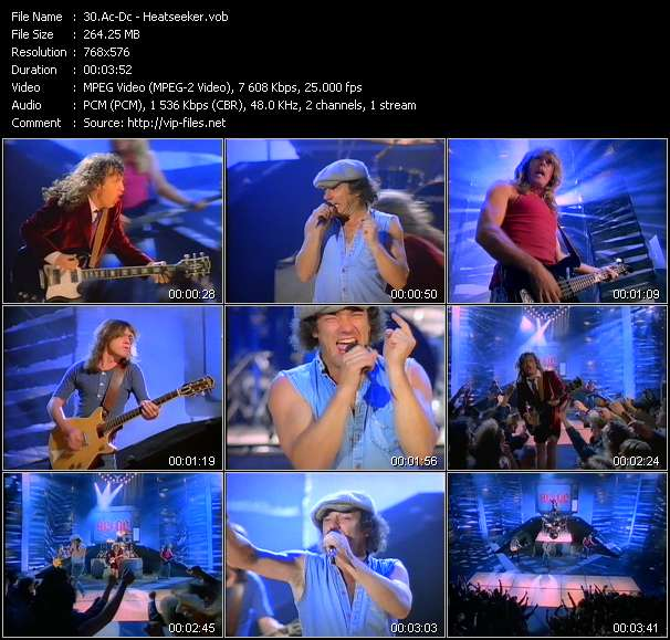 Screenshot of Music Video Ac-Dc - Heatseeker