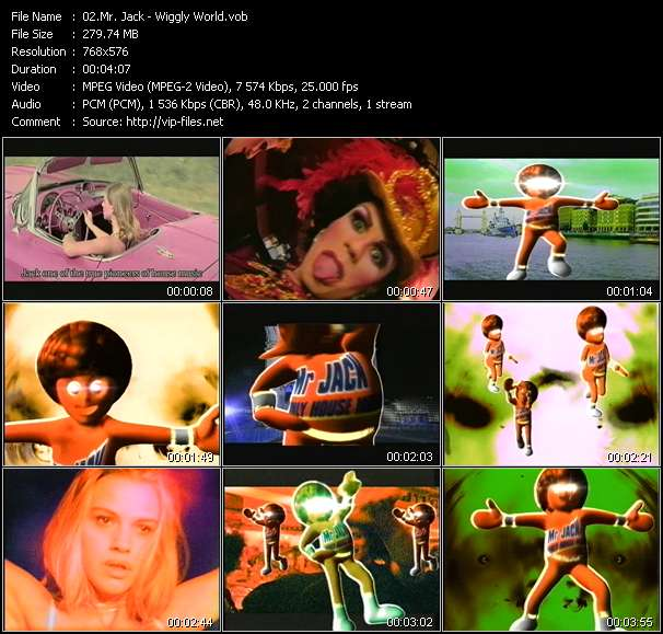 Screenshot of Music Video Mr. Jack - Wiggly World
