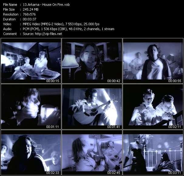 Screenshot of Music Video Arkarna - House On Fire