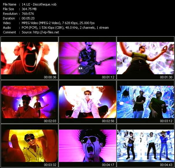 Screenshot of Music Video U2 - Discotheque