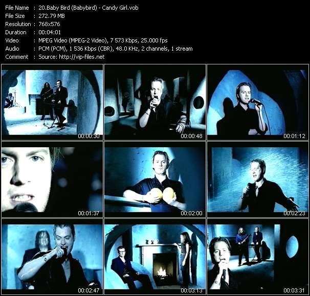 Screenshot of Music Video Baby Bird (Babybird) - Candy Girl