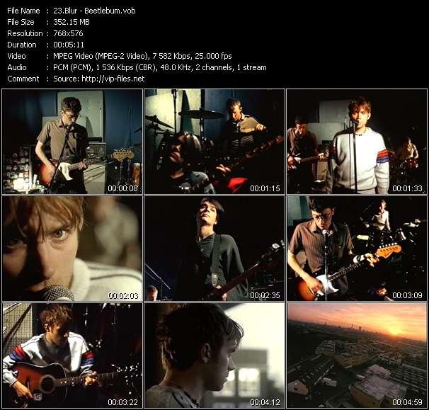 Screenshot of Music Video Blur - Beetlebum