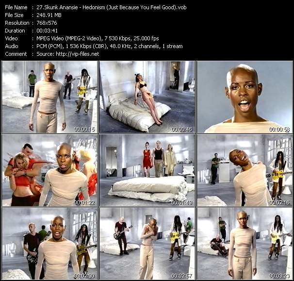 Screenshot of Music Video Skunk Anansie - Hedonism (Just Because You Feel Good)