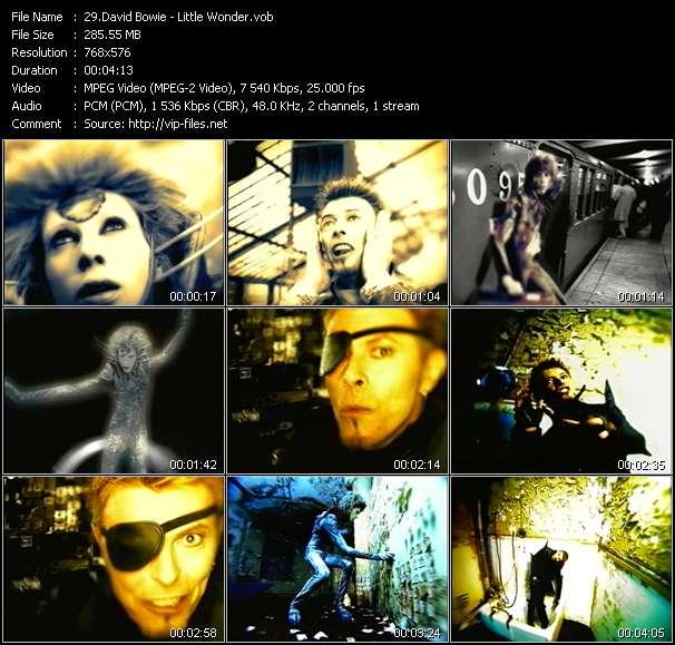 Screenshot of Music Video David Bowie - Little Wonder