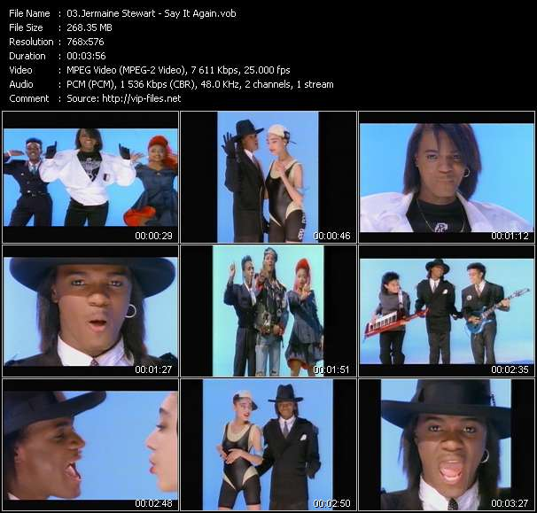 Screenshot of Music Video Jermaine Stewart - Say It Again