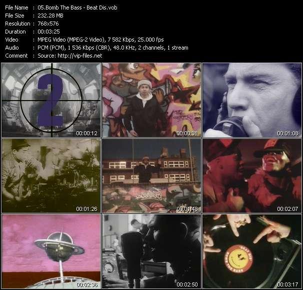 Screenshot of Music Video Bomb The Bass - Beat Dis
