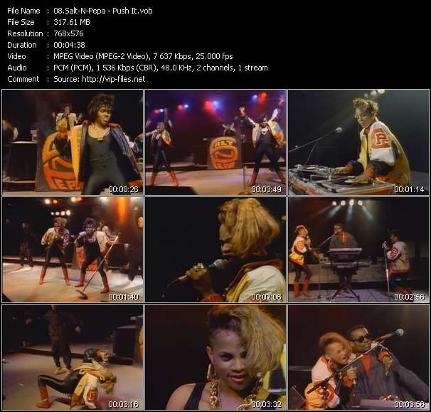 Screenshot of Music Video Salt-N-Pepa - Push It