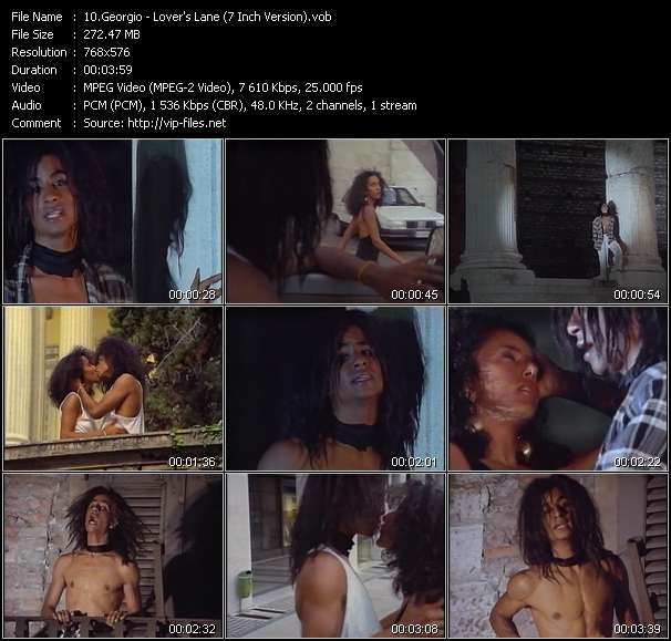 Screenshot of Music Video Georgio - Lover's Lane (7 Inch Version)