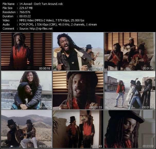Screenshot of Music Video Aswad - Don't Turn Around