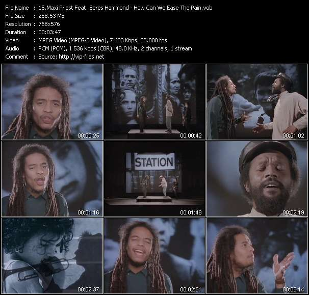 Screenshot of Music Video Maxi Priest Feat. Beres Hammond - How Can We Ease The Pain?
