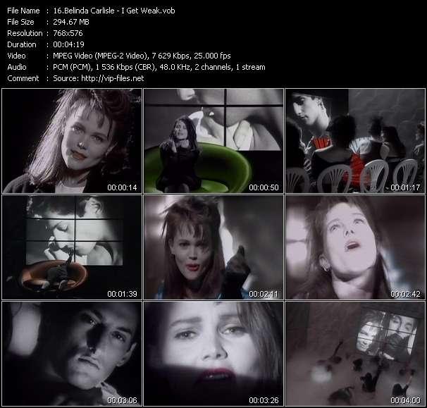 Screenshot of Music Video Belinda Carlisle - I Get Weak