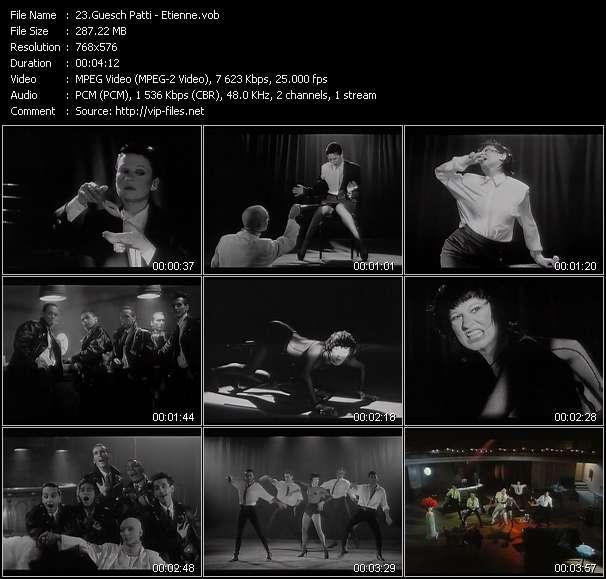 Screenshot of Music Video Guesch Patti - Etienne