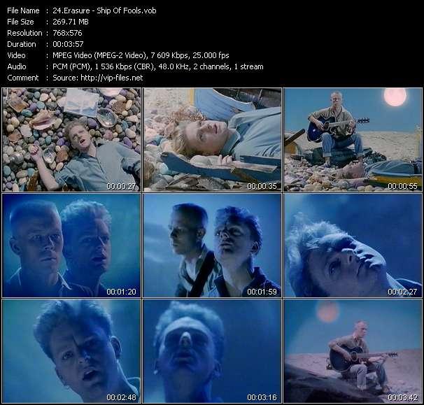 Screenshot of Music Video Erasure - Ship Of Fools